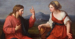 Разговор Христа с самарянкой. Картина Анжелики Кауфманн (фрагмент)